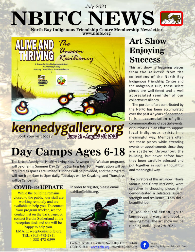 July Newsletter COver
